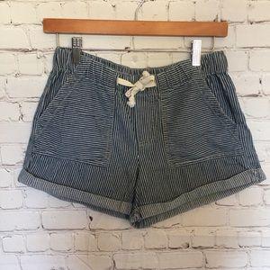 BDG Denim Striped Shorts